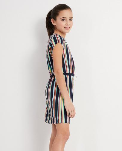 Kleid aus Viskose mit Streifen